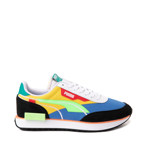 Mens Puma Future Rider Twofold Athletic Shoe - Palace Blue / Electric Green