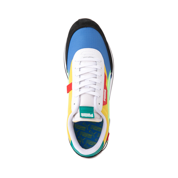 alternate view Mens Puma Future Rider Twofold Athletic Shoe - Palace Blue / Electric GreenALT2