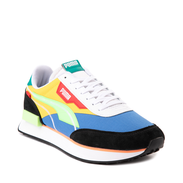 alternate view Mens Puma Future Rider Twofold Athletic Shoe - Palace Blue / Electric GreenALT5