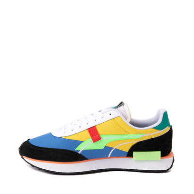 Alternate view of Mens Puma Future Rider Twofold Athletic Shoe - Palace Blue / Electric Green