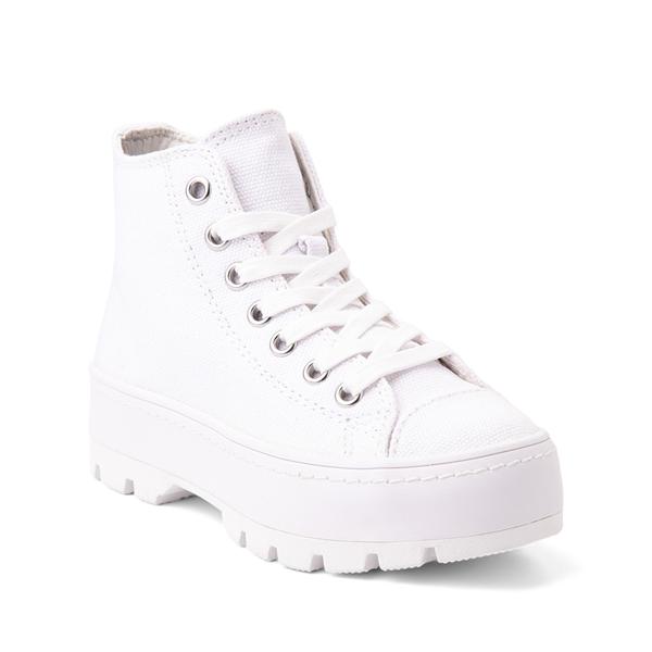alternate view Steve Madden Shadow Lugged Sneaker - Little Kid / Big Kid - WhiteALT5