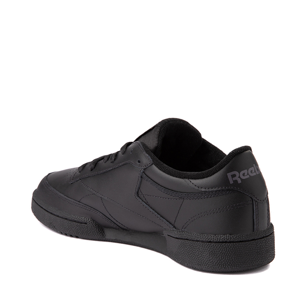alternate view Mens Reebok Club C 85 Athletic Shoe - Black / CharcoalALT1