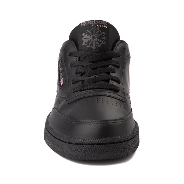 alternate view Mens Reebok Club C 85 Athletic Shoe - Black / CharcoalALT4
