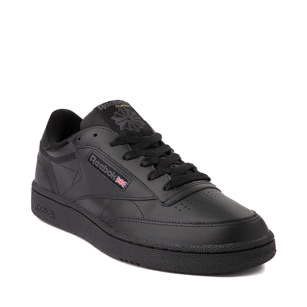 alternate view Mens Reebok Club C 85 Athletic Shoe - Black / CharcoalALT5