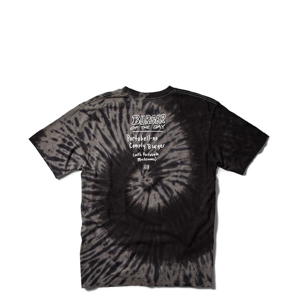 alternate view Mens DC x Bob's Burgers Portabell-No Comply Burger Tee - Black Tie DyeALT1