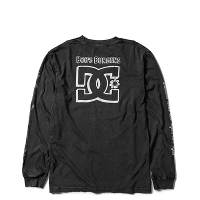 Alternate view of Mens DC x Bob's Burgers It's What's On The Menu Long Sleeve Tee - Black