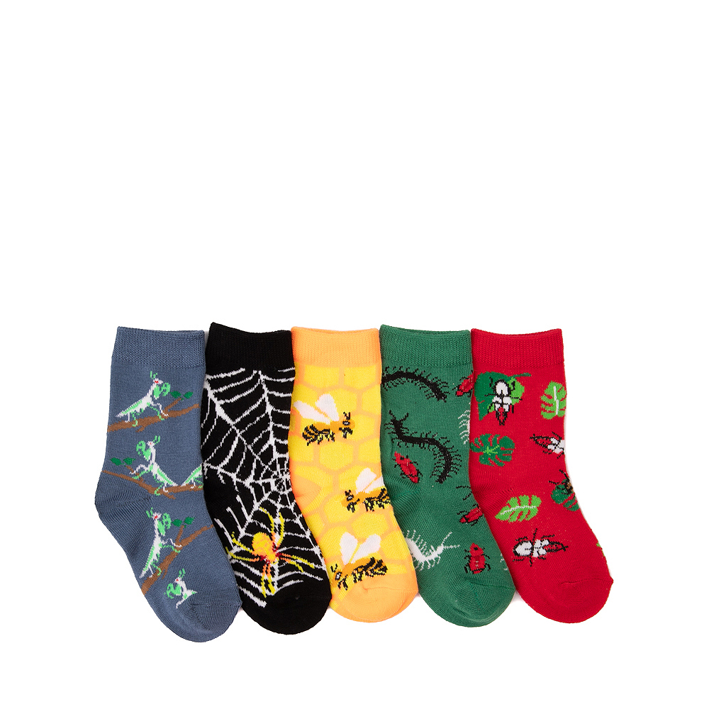 Buggy Glow Crew Socks 5 Pack - Toddler - Multicolor