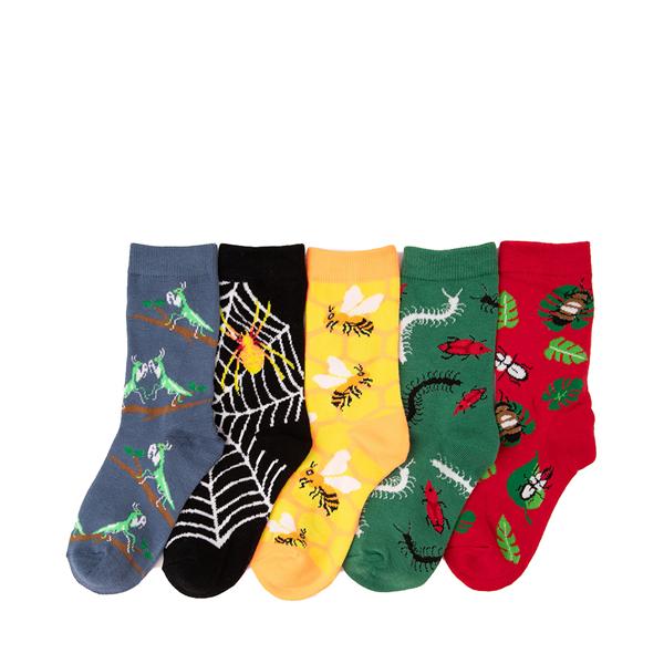 alternate view Buggy Glow Crew Socks 5 Pack - Little Kid - MulticolorALT2