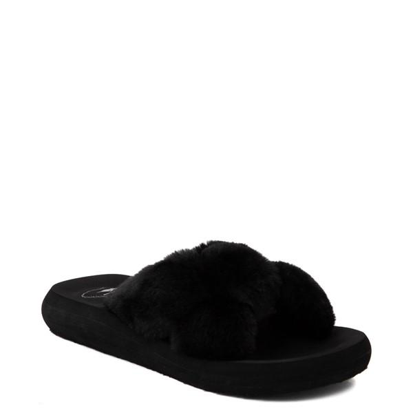 alternate view Womens Rocket Dog Slade Fur Slide Sandal - BlackALT5
