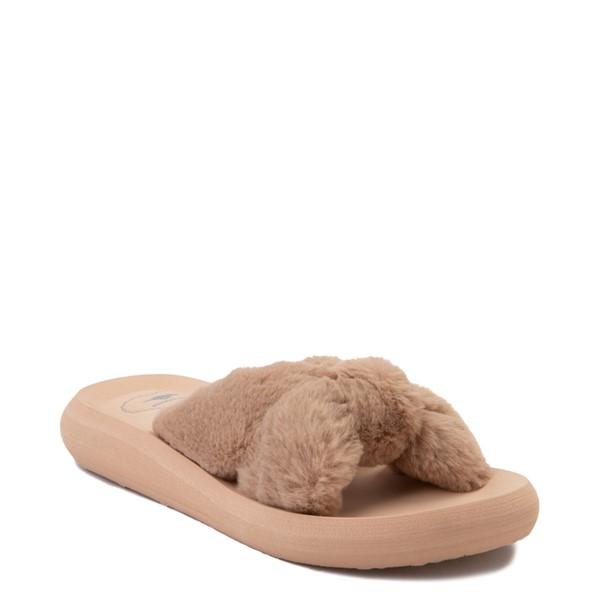 alternate view Womens Rocket Dog Slade Fur Slide Sandal - TanALT5