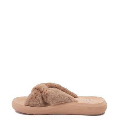 Alternate view of Womens Rocket Dog Slade Fur Slide Sandal - Tan