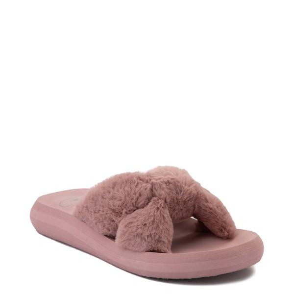 alternate view Womens Rocket Dog Slade Fur Slide Sandal - Dusty RoseALT5
