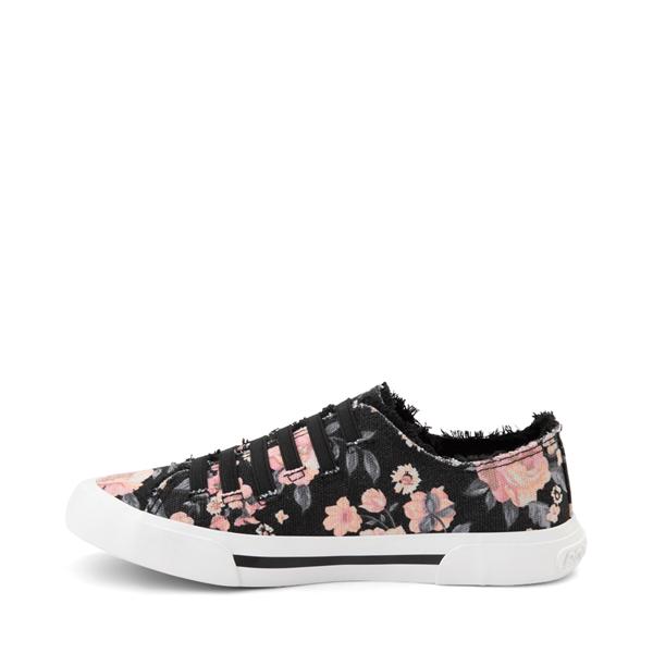 alternate view Womens Rocket Dog Jokes Slip On Sneaker - Black / FloralALT1