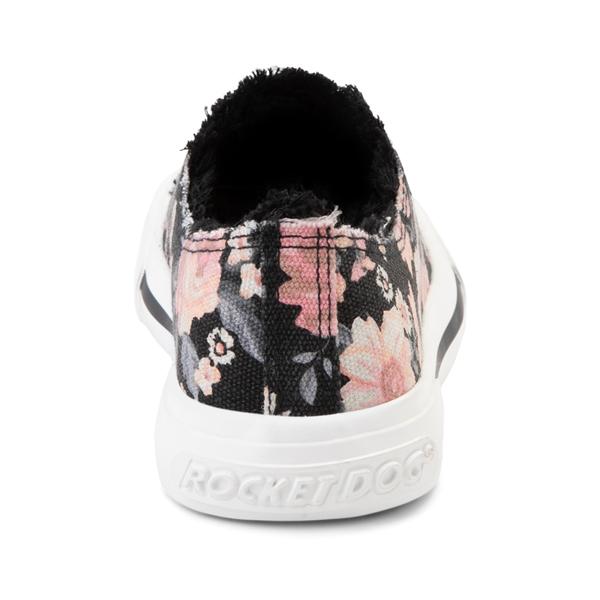 alternate view Womens Rocket Dog Jokes Slip On Sneaker - Black / FloralALT4
