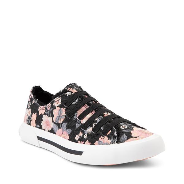 alternate view Womens Rocket Dog Jokes Slip On Sneaker - Black / FloralALT5