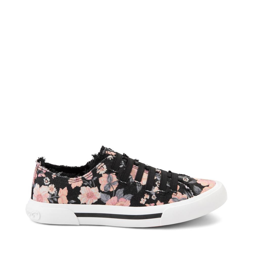 Womens Rocket Dog Jokes Slip On Sneaker - Black / Floral