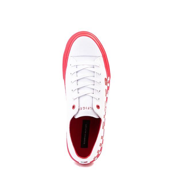 alternate view Mens Tommy Hilfiger Reid Casual Shoe - White / RedALT2