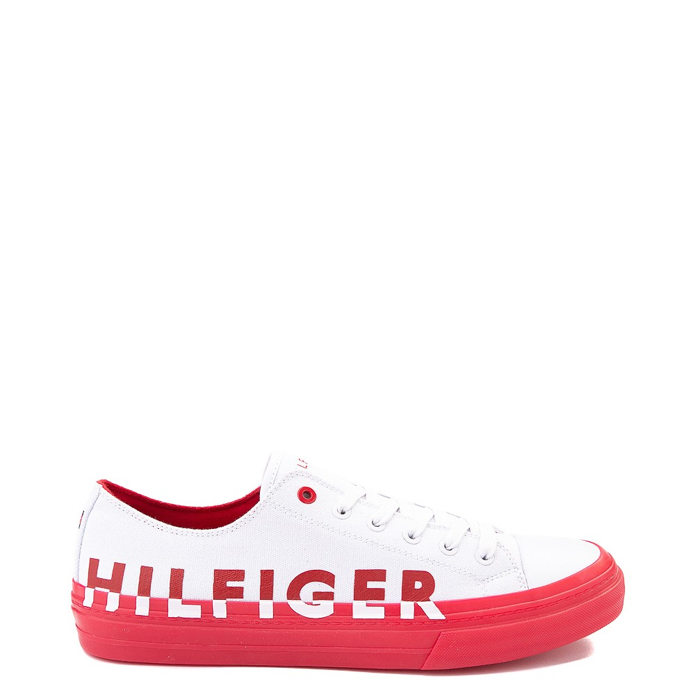 Mens Tommy Hilfiger Reid Casual Shoe - White / Red