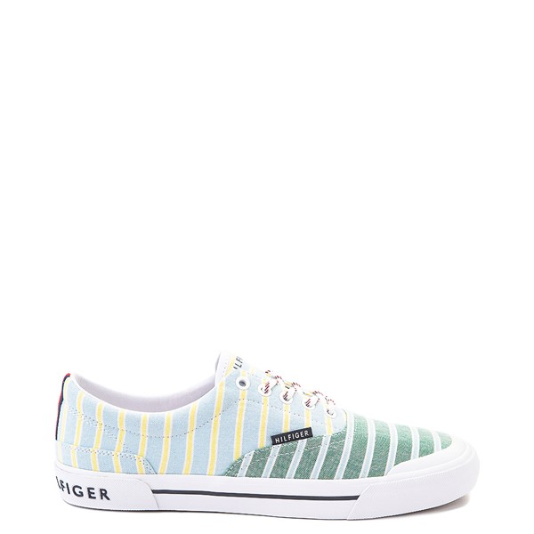 Main view of Mens Tommy Hilfiger Pallet Casual Shoe - Light Blue / Green / Stripes