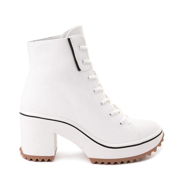 Main view of Womens MIA Brittnee Platform Sneaker Boot - White