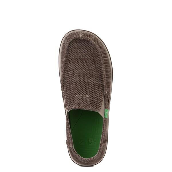alternate view Mens Sanuk Vagabond Tripper Mesh Slip On Casual Shoe - Vintage KhakiALT2