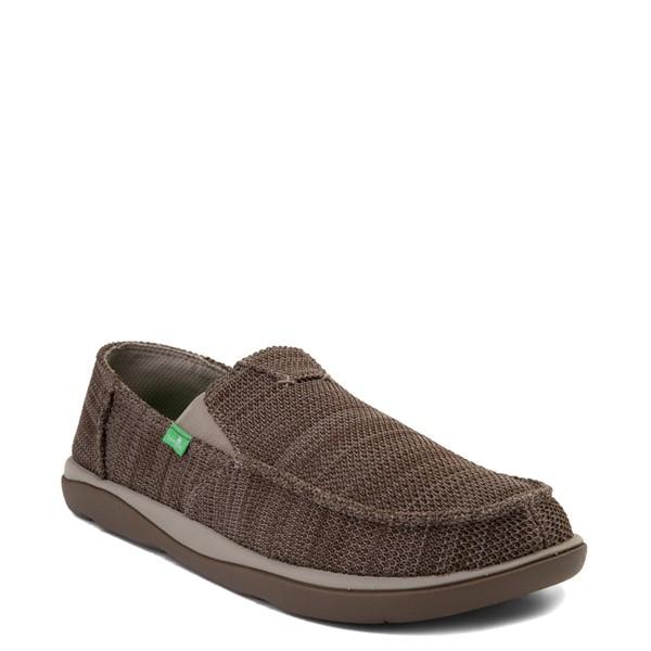 alternate view Mens Sanuk Vagabond Tripper Mesh Slip On Casual Shoe - Vintage KhakiALT5