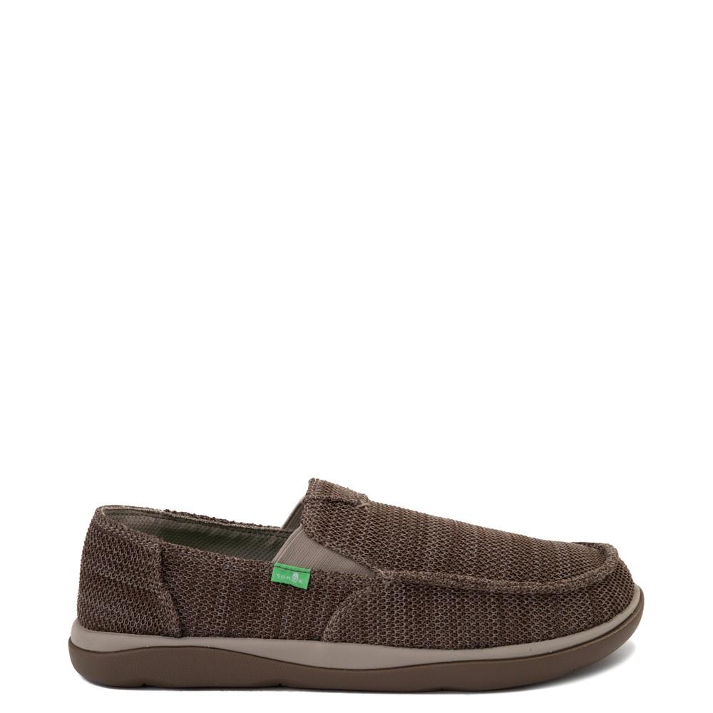 Mens Sanuk Vagabond Tripper Mesh Slip On Casual Shoe - Vintage Khaki