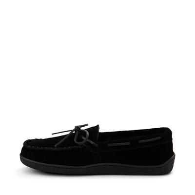 Alternate view of Mens Minnetonka Pile Lined Hardsole Slipper - Black
