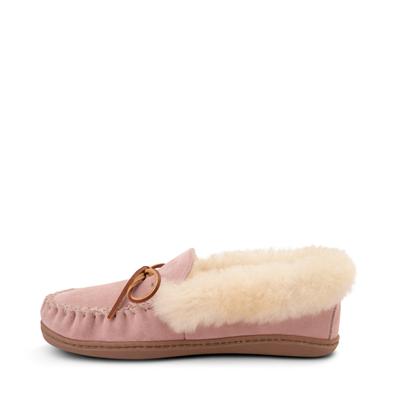 Alternate view of Womens Minnetonka Alpine Sheepskin Moc Casual Shoe - Blush