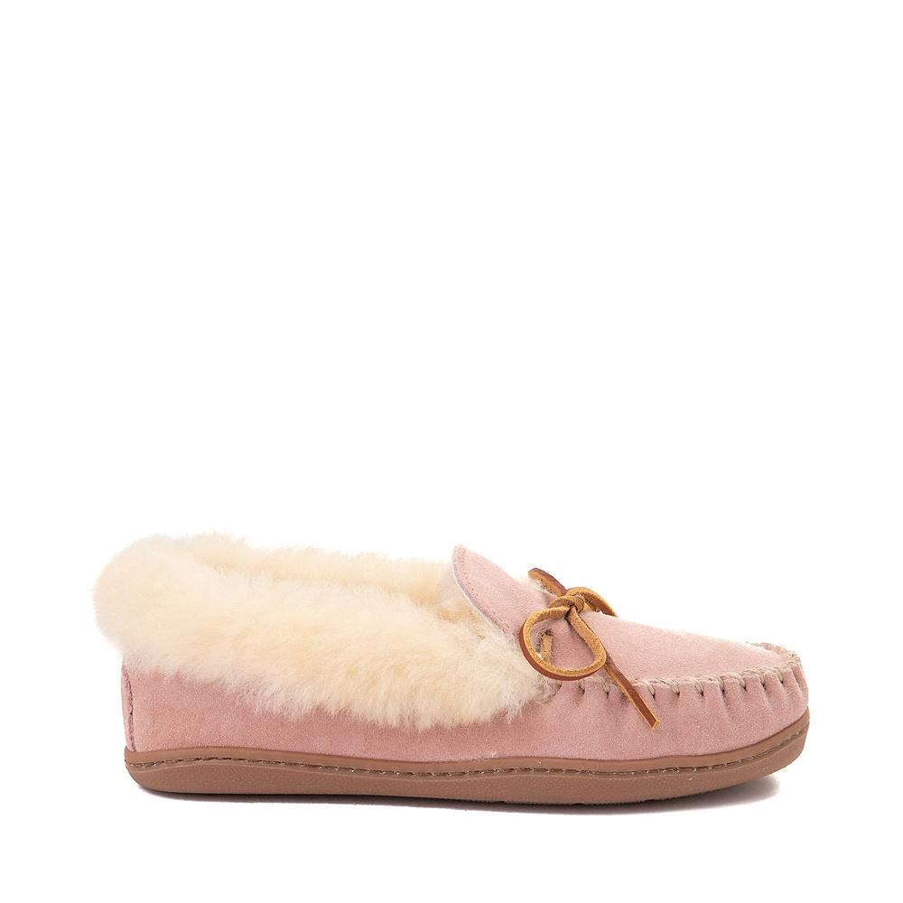 Womens Minnetonka Alpine Sheepskin Moc Casual Shoe - Blush