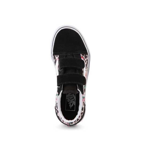 alternate view Vans Old Skool V Skate Shoe - Little Kid - Black / Leopard FloralALT2