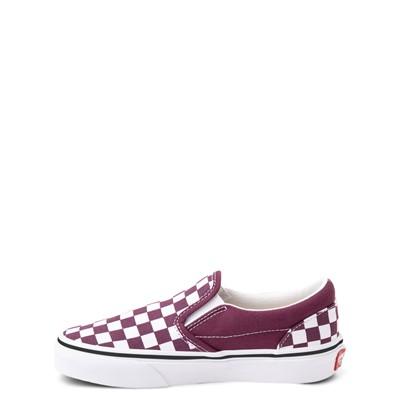Alternate view of Vans Slip On Checkerboard Skate Shoe - Little Kid - Grape Wine