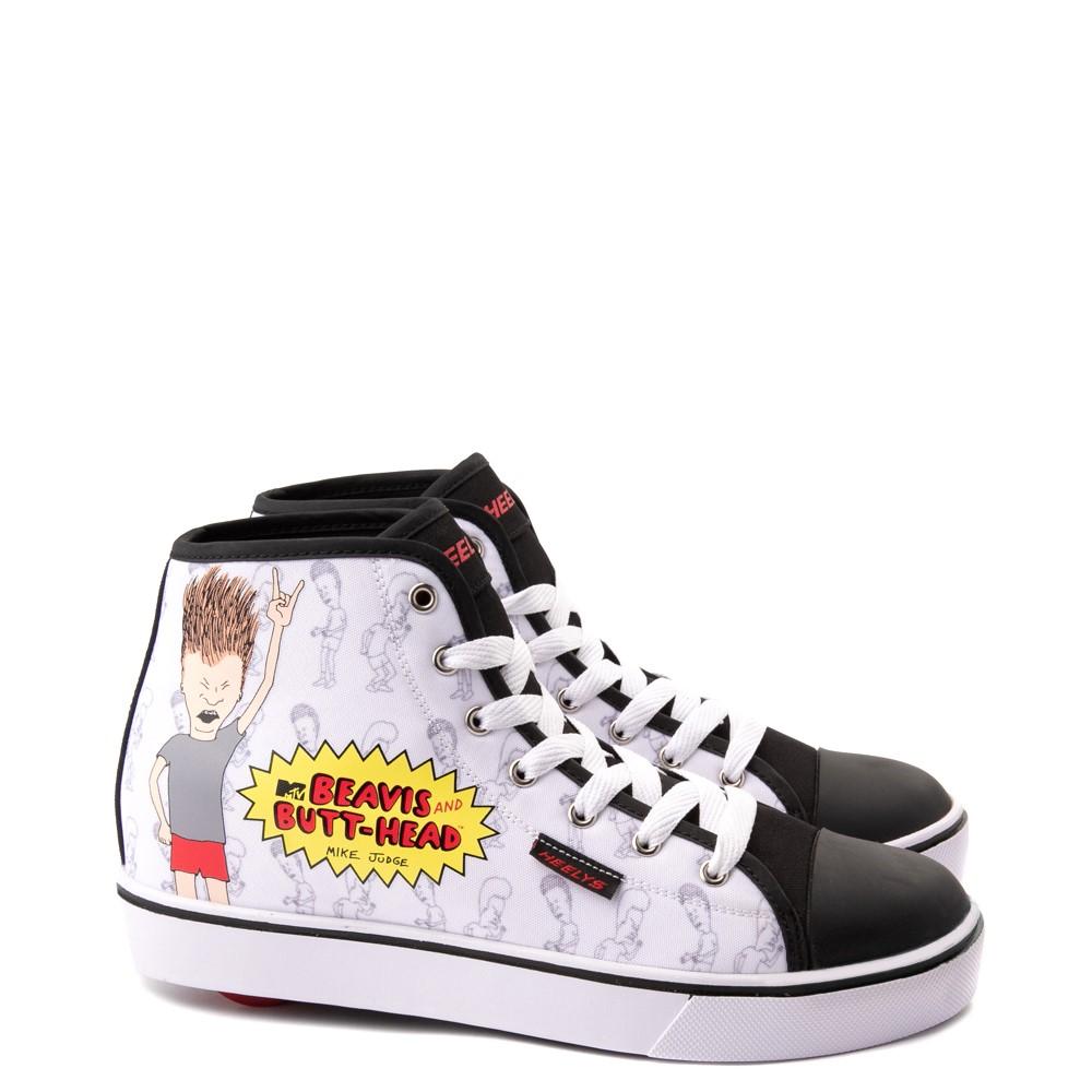Mens Heelys x Beavis and Butt-Head Hustle Skate Shoe - White
