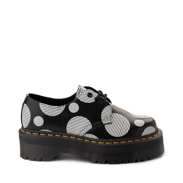 Dr. Martens 1461 Platform Casual Shoe - Black / White Polka Dot