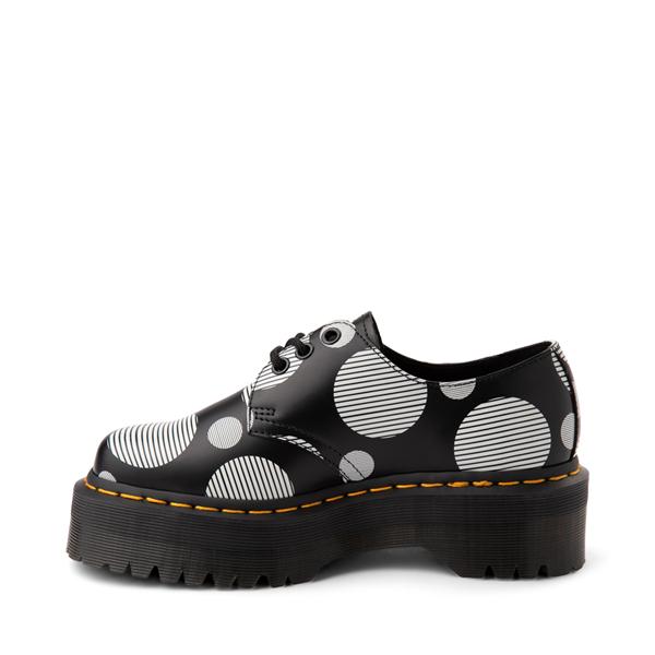 alternate view Dr. Martens 1461 Platform Casual Shoe - Black / White Polka DotALT1