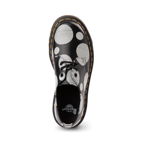 alternate view Dr. Martens 1461 Platform Casual Shoe - Black / White Polka DotALT2