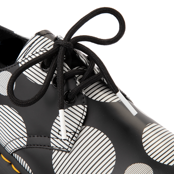 alternate view Dr. Martens 1461 Platform Casual Shoe - Black / White Polka DotALT2B