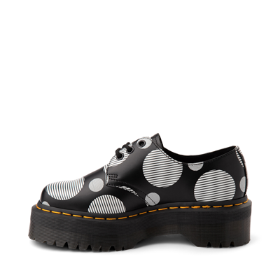 Alternate view of Dr. Martens 1461 Platform Casual Shoe - Black / White Polka Dot