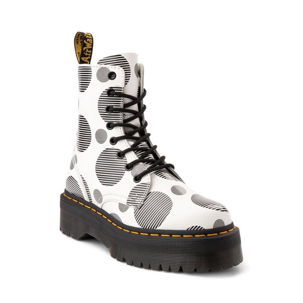 alternate view Dr. Martens Jadon Boot - White / Polka DotALT5