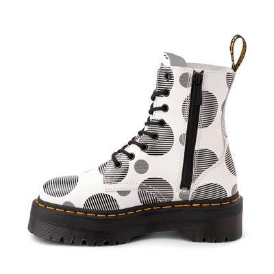 Alternate view of Dr. Martens Jadon Boot - White / Polka Dot