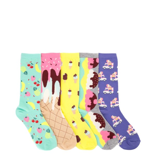 Main view of Sweet Treat Crew Socks 5 Pack - Big Kid - Multicolor