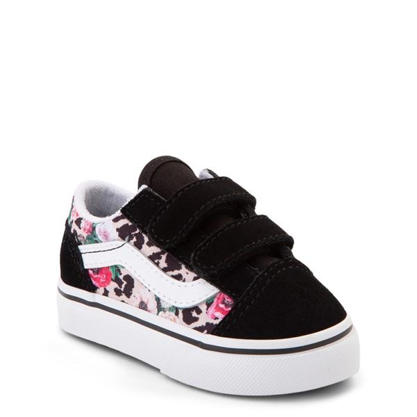 alternate view Vans Old Skool V Skate Shoe - Baby / Toddler - Black / Leopard FloralALT5