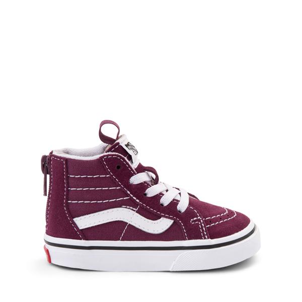 Main view of Vans Sk8 Hi Zip Skate Shoe - Baby / Toddler - Grape Wine