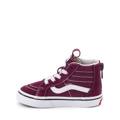 Alternate view of Vans Sk8 Hi Zip Skate Shoe - Baby / Toddler - Grape Wine