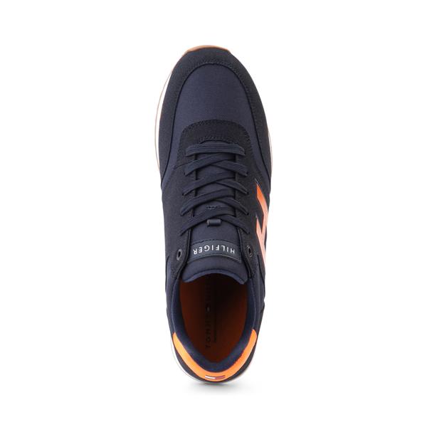 alternate view Mens Tommy Hilfiger Mainer Athletic Shoe - Navy / OrangeALT2