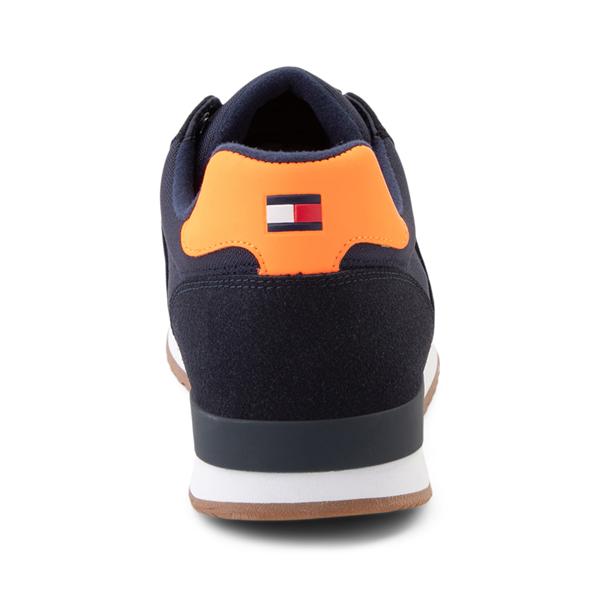 alternate view Mens Tommy Hilfiger Mainer Athletic Shoe - Navy / OrangeALT4