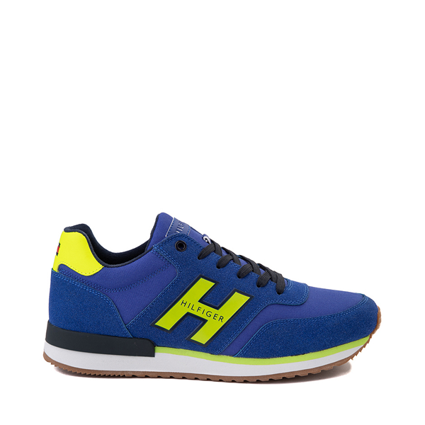 Main view of Mens Tommy Hilfiger Mainer Athletic Shoe - Royal Blue / Yellow