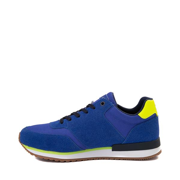 alternate view Mens Tommy Hilfiger Mainer Athletic Shoe - Royal Blue / YellowALT1