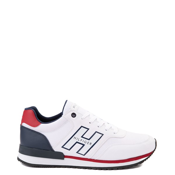 Main view of Mens Tommy Hilfiger Mainer Athletic Shoe - White / Navy / Red