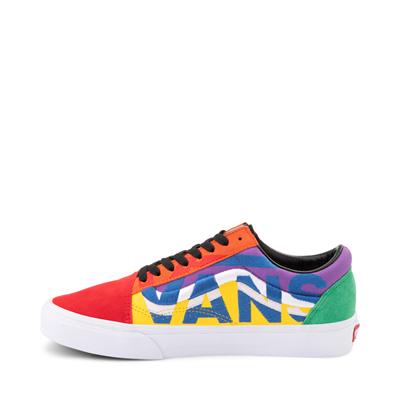 Alternate view of Vans Old Skool Statement Block Skate Shoe - Red / Blue / Yellow